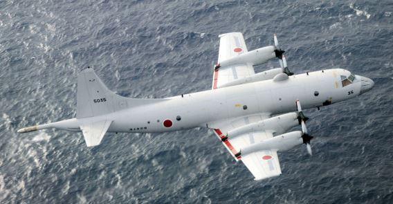 Naha P-3C over ocean