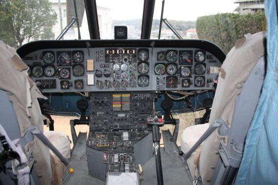 KV-107 cockpit