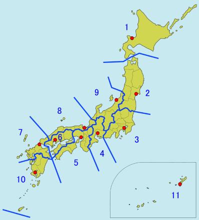 JCG regions