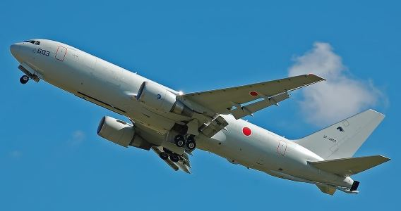 KC-767 departs Fairford 140714