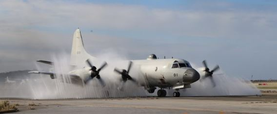 P-3C water spray Naha