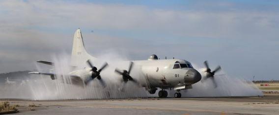 P-3C water spray Naha