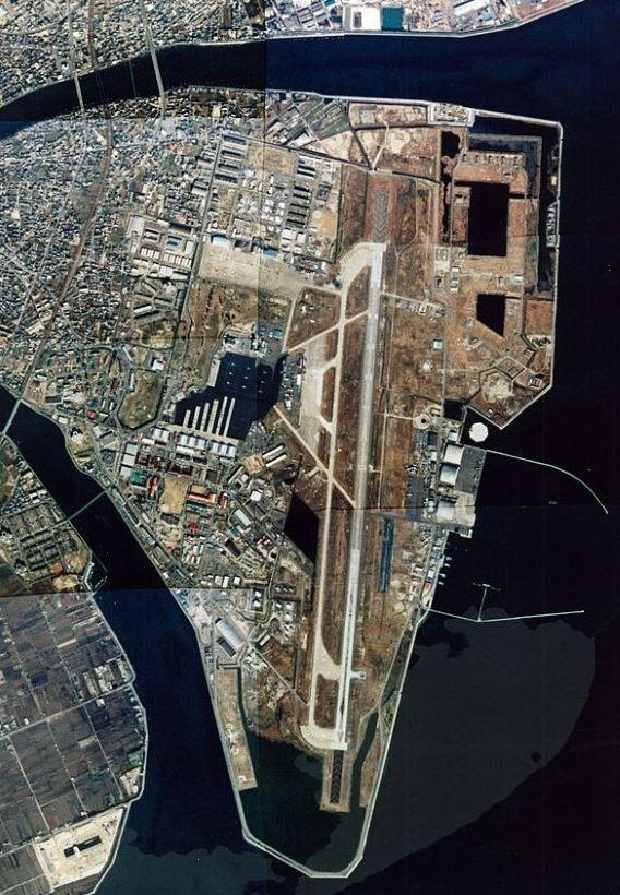 Iwakuni aerial view 1996