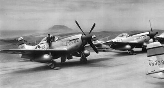 Iwo Jima P-51s