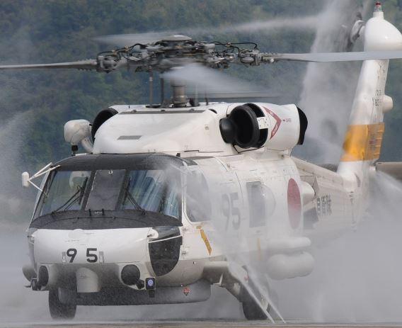 SH-60J JMSDF wash rack