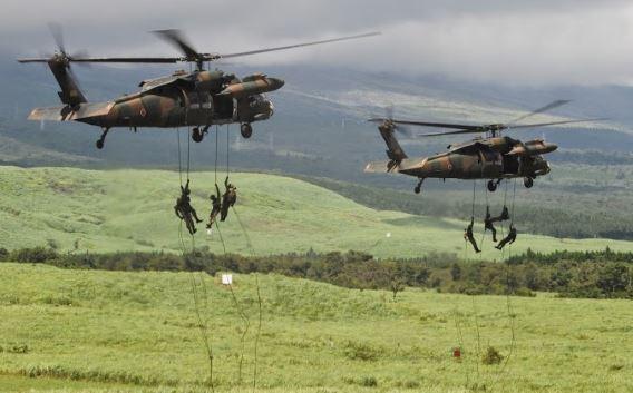 UH-60JA (Fuji live fire)