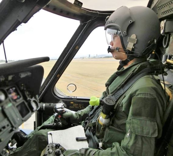 Hamamatsu UH-60J pilot